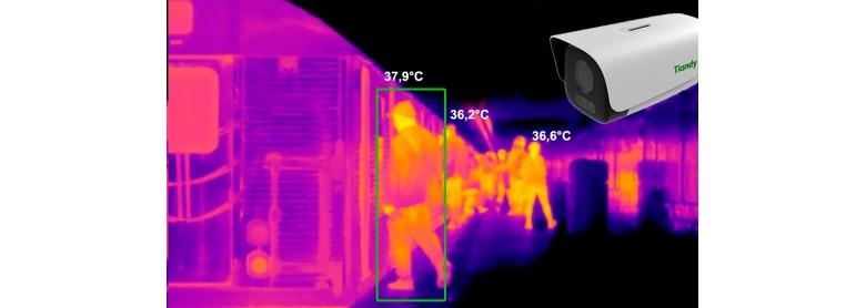 Тепловизр Tiandy для измерения температуры тела человека